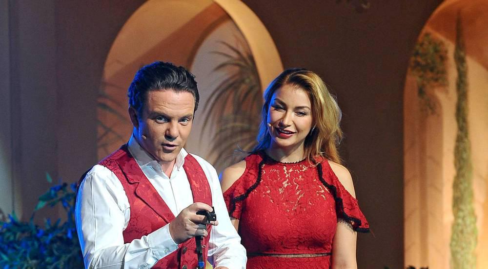 Stefan Mross bei einem gemeinsamen Auftritt mit seiner Freundin Anna-Carina Woitschack