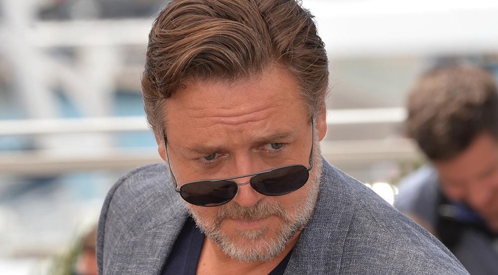 Russell Crowe bei einem Auftritt in Cannes