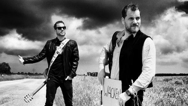 Haben auch schon in Wacken gespielt: Das Münchner Duo Florian Pfisterer (l.) und Florian Pledl alias Da Rocker & da Waitler