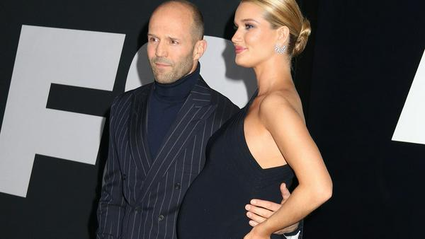 "Jason Statham und Rosie Huntington-Whiteley bei der Premiere von ""Fast & Furious 8"" in New York"