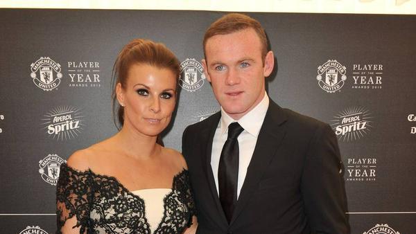 Wayne Rooney mit seiner Frau Coleen im Jahr 2015