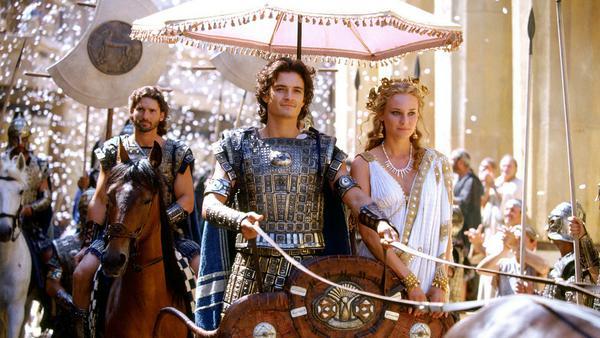 """Diane Kruger (r.) war neben Orlando Bloom und Eric Bana (l.) in """"Troja"""" zu sehen"""