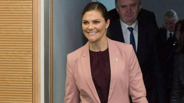Victoria von Schweden am Donnerstag in Leipzig