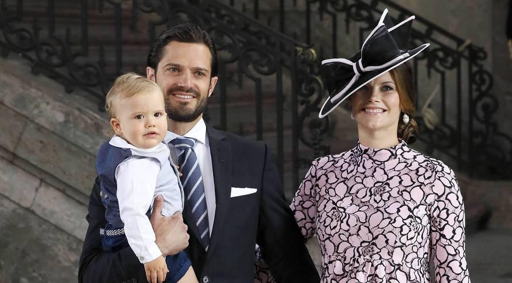 Prinzessin Sofia mit Ehemann Prinz Carl Philip und Sohn Alexander