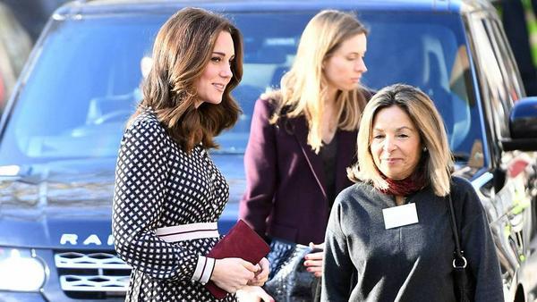 Gut kaschiert! Herzogin Kates Babybauch ist bei ihrem Auftritt in London immer noch kaum zu sehen