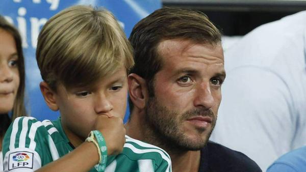 Rafael van der Vaart und sein Sohn Damian teilen die Leidenschaft für den Fußball