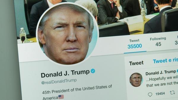 Für kurze Zeit war Trump auf Twitter zum Schweigen verurteilt