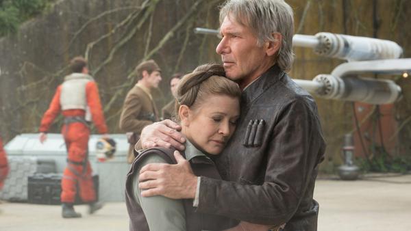 Harrison Ford als Han Solo an der Seite der verstorbenen Carrie Fisher (Prinzessin Leia)