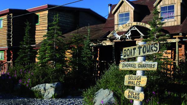 Urig und gemütlich: die Lazy Bear Lodge