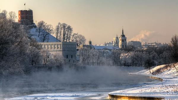 """Vom """"Gediminas-Turm"""" hat man einen wunderschönen Blick auf die Vilnia"""