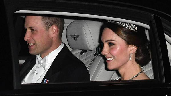Eine strahlende Herzogin Kate neben ihrem Ehemann Prinz William