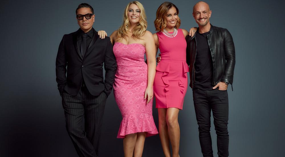 Bitte lächeln: Die neue Jury um Plus-Size-Model Angelina Kirsch (l.)