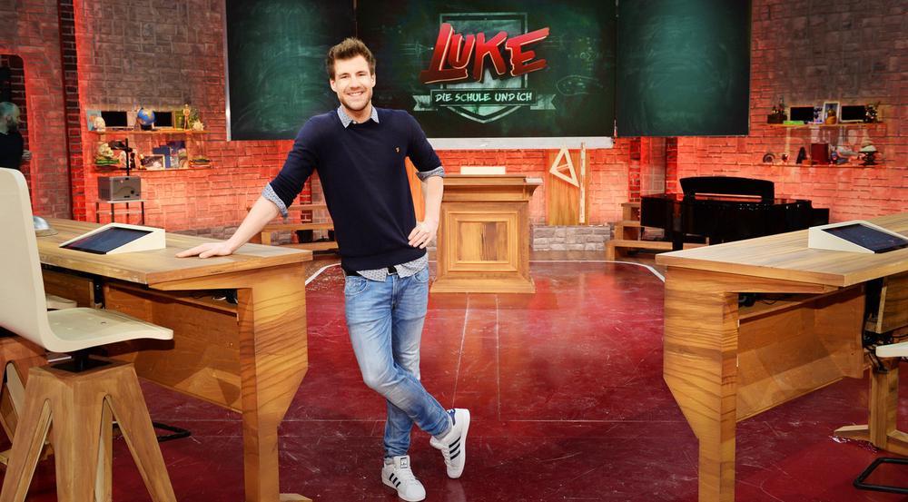 Luke Mockridge am Set seiner neuen Show