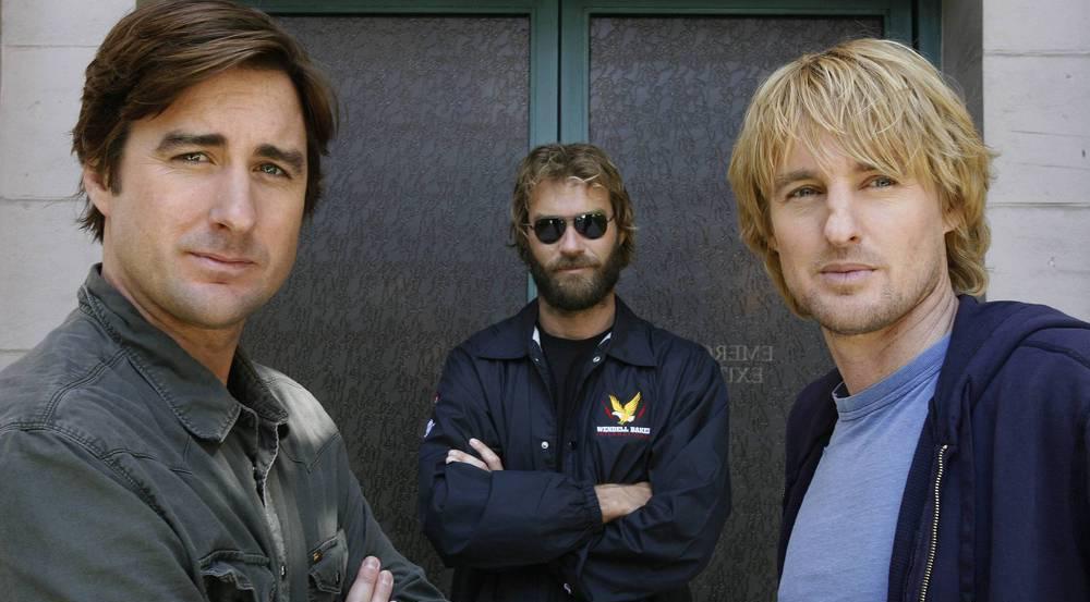 Die Brüder Luke, Andrew und Owen Wilson (v.l.n.r.) trauern um ihren Vater Robert