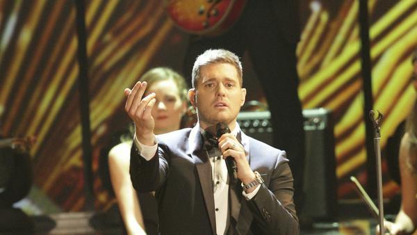 Michael Bublé bei einem TV-Auftritt in Deutschland