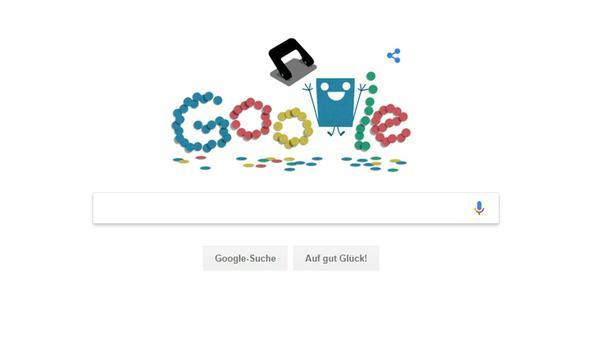 Ein buntes Google Doodle für den Locher