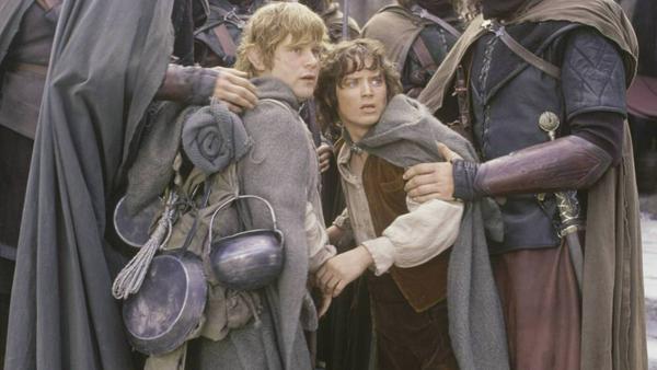 """Frodo (Elijah Wood, r.) und Sam (Sean Astin) in der """"Herr der Ringe""""-Filmtrilogie"""