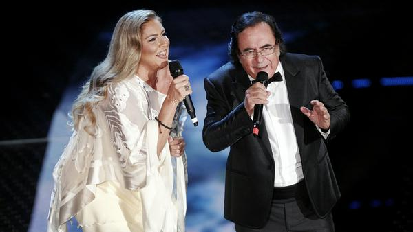 Al Bano und Romina Power während eines Auftritts in Sanremo
