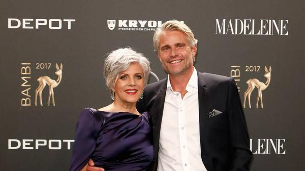 Birgit Schrowange und Frank Spothelfer auf dem roten Teppich der Bambi-Verleihung