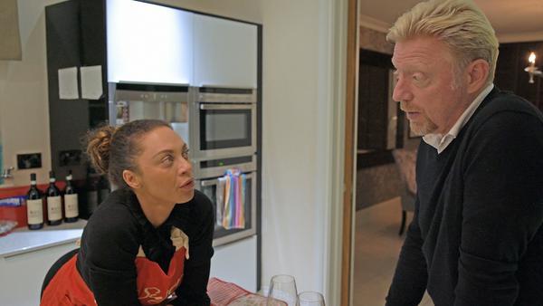 Boris Becker und seine Ehefrau Lilly zu Hause in Wimbledon