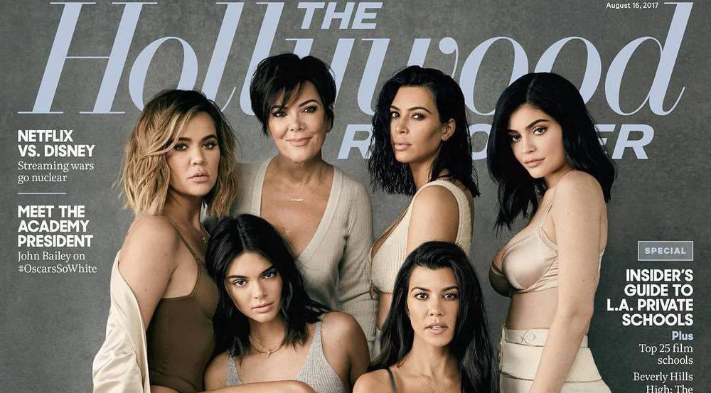 """Der Kardashian-Jenner-Clan ziert das aktuelle Cover des """"Hollywood Reporters"""""""
