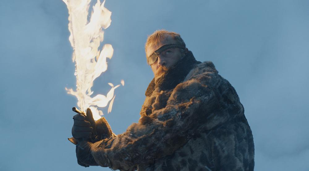 Kann Beric (Richard Dormer) mit seinem Feuerschwert etwas ausrichten?