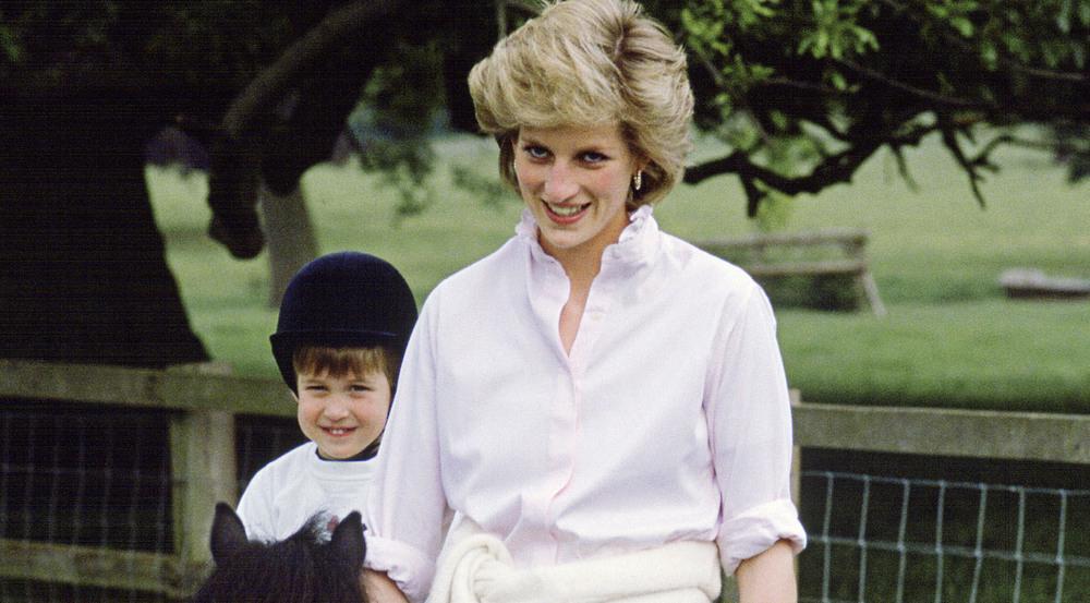Prinzessin Diana mit ihrem Sohn William