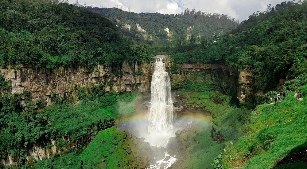 An den malerischen Tequendama-Wasserfällen fanden schon viele Menschen den Tod