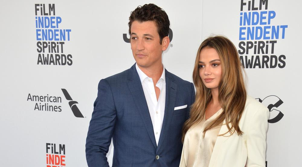 Miles Teller und seine zukünftige Ehefrau Keleigh Sperry bei den Film Independent Spirit Awards 2017 in Santa Monica