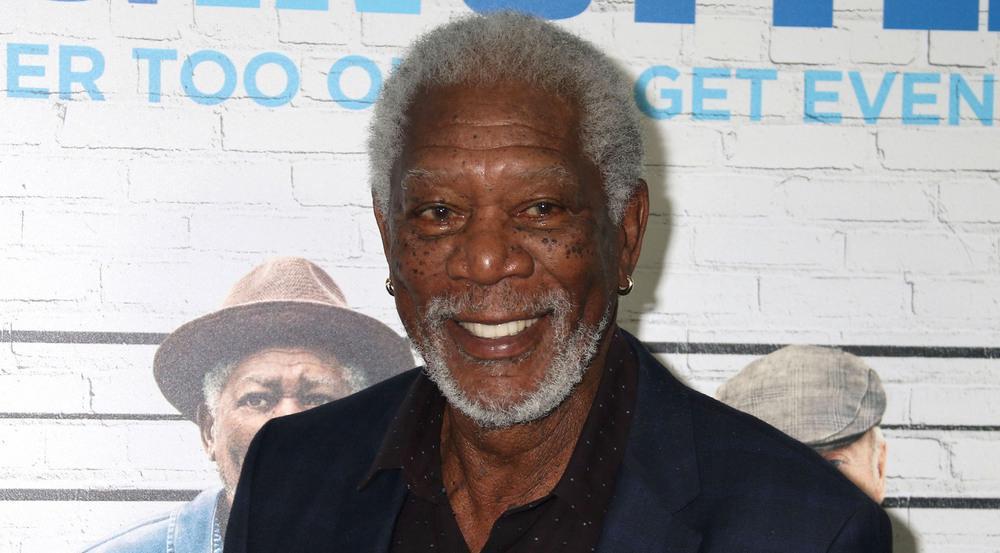 Er hat allen Grund zur Freude: Schauspieler Morgan Freeman