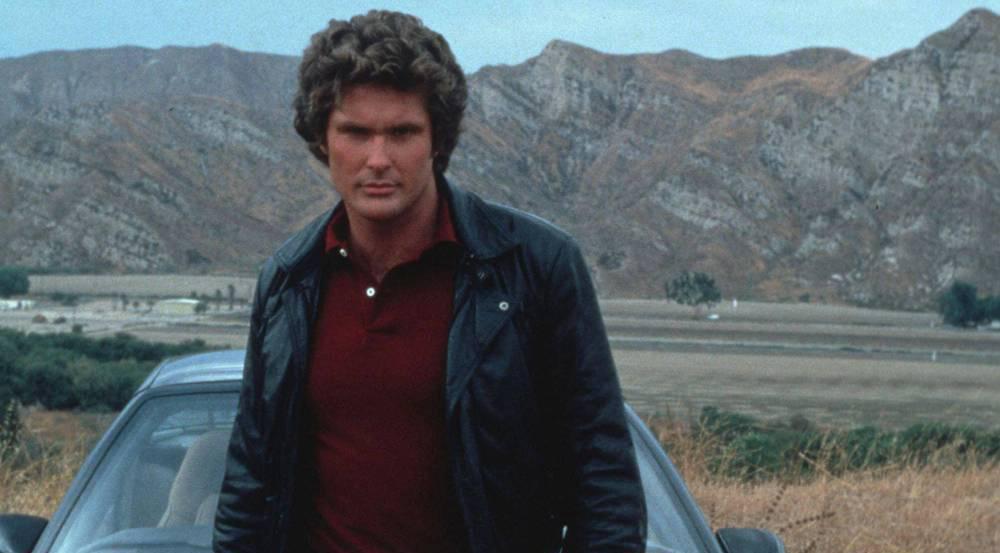 "David Hasselhoff als Michael Knight in der TV-Serie ""Knight Rider"""