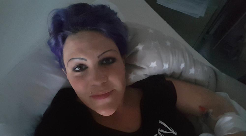 Nadine Zucker postete dieses Bild aus dem Wochenbett