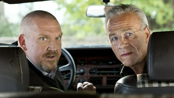 """""""Tatort: Nachbarn"""": Die Kommissare Freddy Schenk (Dietmar Bär, l.) und Max Ballauf (Klaus J. Behrendt) dürfen sich über tolle Quoten freuen"""