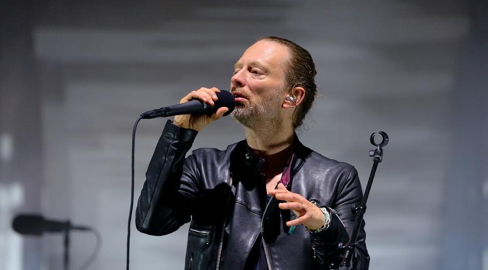 Thom Yorke von Radiohead bei einem der Konzerte