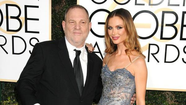 Harvey Weinstein und seine Noch-Ehefrau Georgina Chapman bei den Golden Globes im Januar 2017