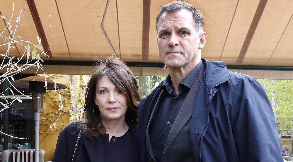Schauspielerin Iris Berben besuchte die Trauerfeier zusammen mit ihrem Lebensgefährten Heiko Kiesow