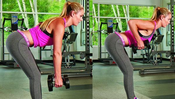 Ein starker Rücken kann auch entzücken! Lindsey Vonn setzt deshalb auf vorgebeugtes Rudern.