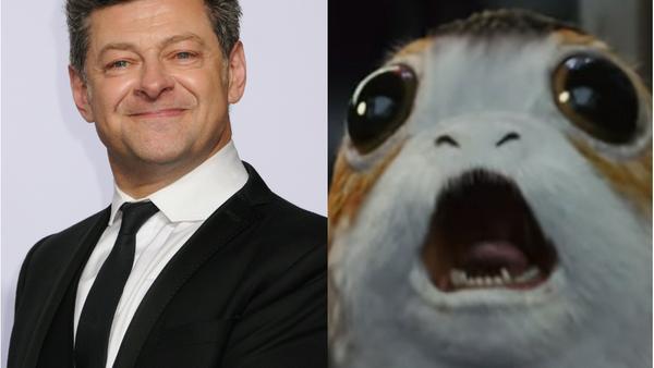 """Andy Serkis rät dazu, die neuen """"Star Wars""""-Lieblinge Porgs lieber nicht zu probieren"""
