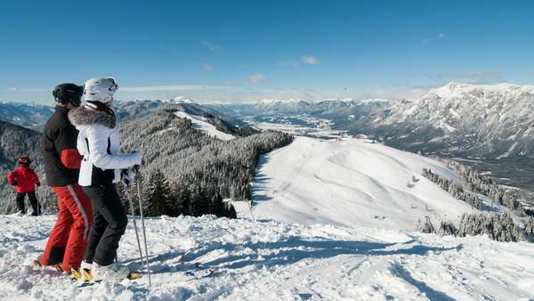Skigebiet mit Aussicht: das Dreiländereck Österreich, Italien und Slowenien