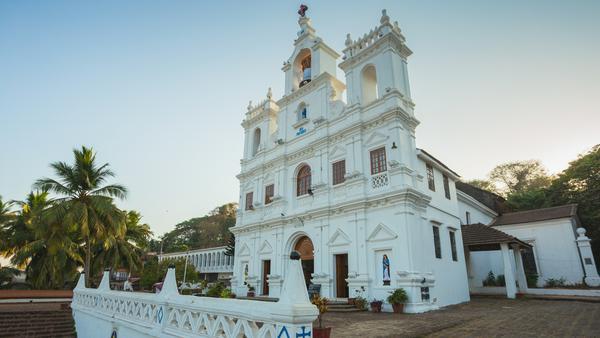 Die Mariä-Empfängnis-Kirche in der Hauptstadt Panaji ist eine von zahlreichen christlichen Gotteshäusern auf der Insel.