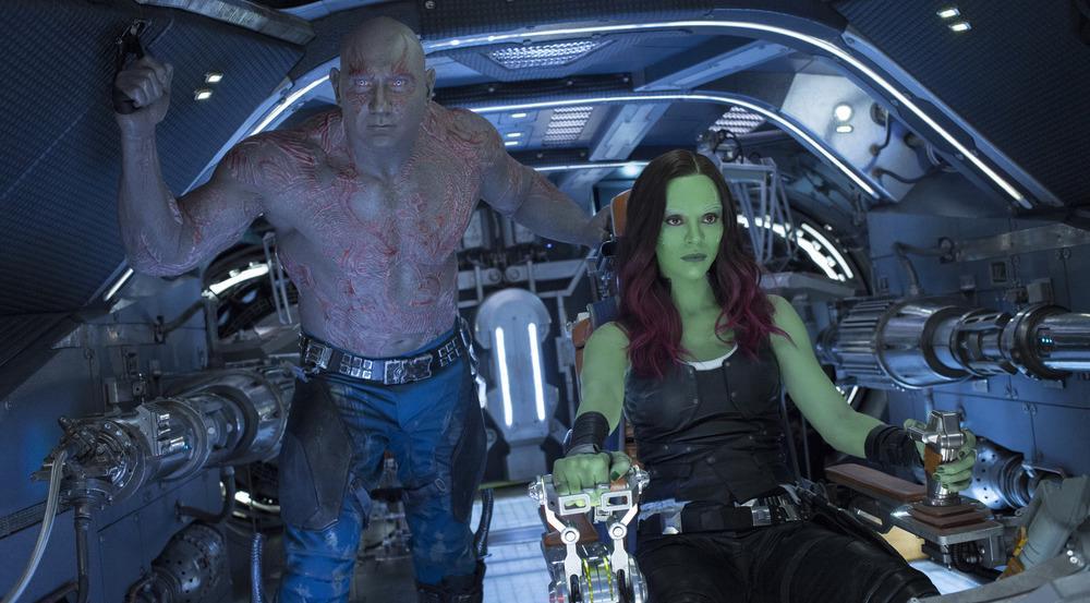 Drax (Dave Bautista) und Gamora (Zoe Saldana) in