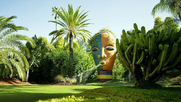 Skulptur in Anima, dem Fantasiegarten von André Heller