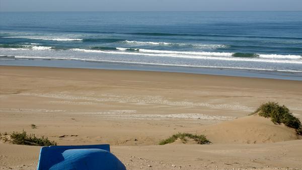 Einer der einsamen Strände außerhalb von Agadir
