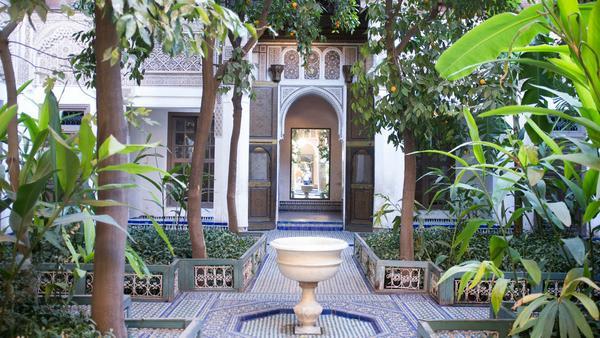 Der berühmte Garten Palais de la Bahia in Marrakesch