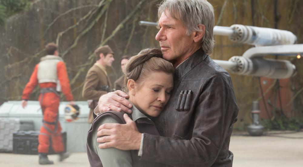 Carrie Fisher - hier mit Harrison Ford in