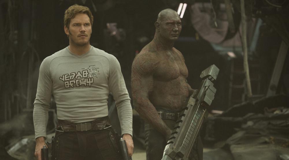 Dave Bautista (r.) als Drax und Chris Pratt als Star-Lord in