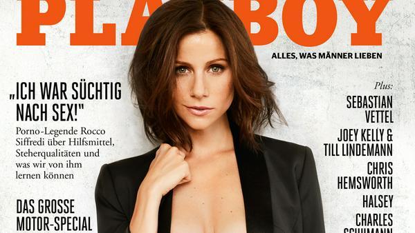 """Von wegen braves Mädchen von nebenan: Katrin Heß auf dem """"Playboy""""-Cover"""
