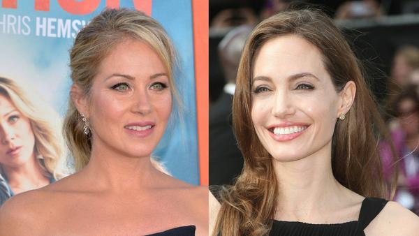 Ohne einem Teil von sich mit mehr Chancen auf Leben: Angelina Jolie (r.) und Christina Applegate