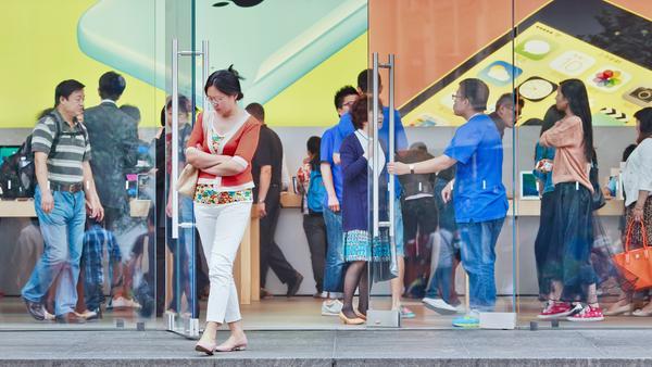 Ein Apple Store im chinesischen Shanghai