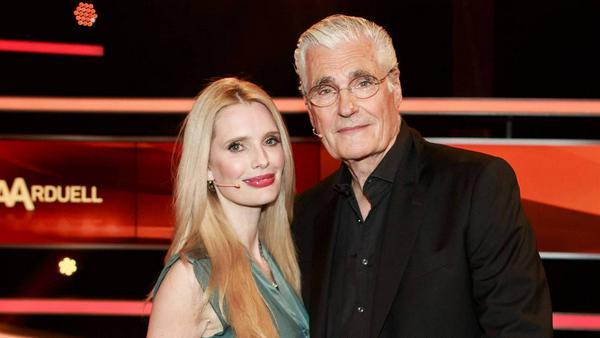 Mirja und Sky du Mont bei einem TV-Auftritt im März 2016 - damals noch als Paar